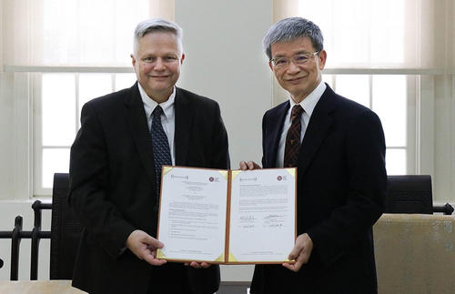Ken Pugh was recently in Taipei for the signing of the MOU with NTNU